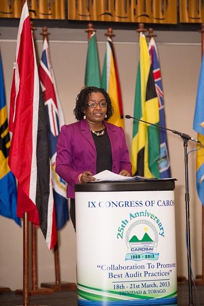 Professor Rhoda Reddock, Vice Principal, UWI St. Augustine delivers the feature address.