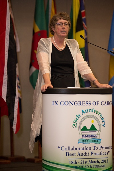 Lyn Provost, Auditor General of New Zealand and Secretary General of PASAI delivers her remarks on behalf of PASAI.